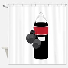 Boxing Bag Shower Curtain