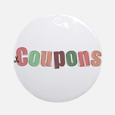 Coupon Clipper Round Ornament