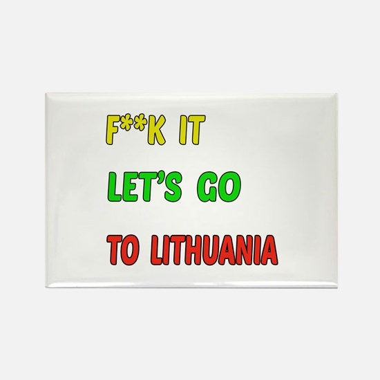 Let's go to Lithuania Rectangle Magnet