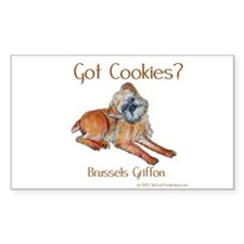 Brussels Griffon Cookies! Rectangle Decal