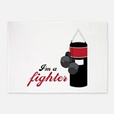 Boxing Fighter 5'x7'Area Rug