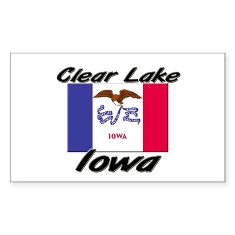 Clear Lake Iowa Rectangle Sticker