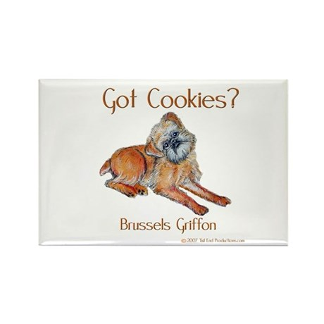 Brussels Griffon Cookies! Rectangle Magnet