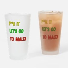 Let's go to Malta Drinking Glass