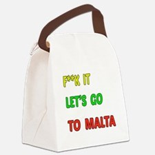Let's go to Malta Canvas Lunch Bag