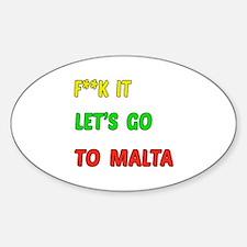 Let's go to Malta Sticker (Oval)