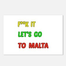 Let's go to Malta Postcards (Package of 8)
