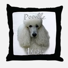 Poodle Mom2 Throw Pillow