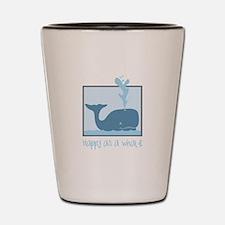Happy Whale Shot Glass