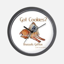Brussels Griffon Cookies! Wall Clock