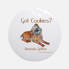 Brussels Griffon Cookies! Ornament (Round)