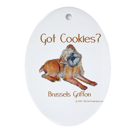 Brussels Griffon Cookies! Oval Ornament