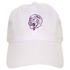 Lion Mascot (Purple) Baseball Cap