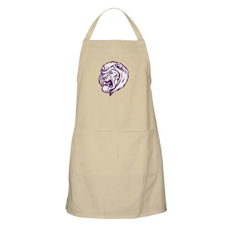 Lion Mascot (Purple) BBQ Apron