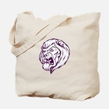 Lion Mascot (Purple) Tote Bag