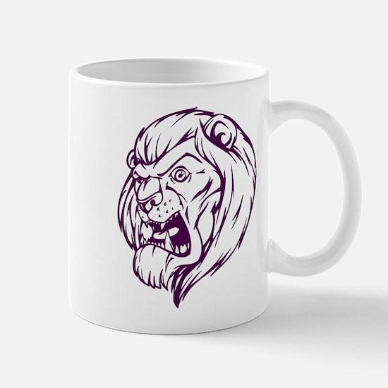 Lion Mascot (Purple) Mug