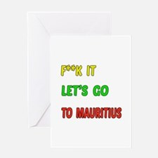 Let's go to Mauritius Greeting Card