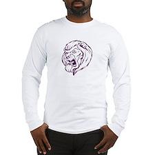 Lion Mascot (Purple) Long Sleeve T-Shirt