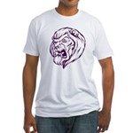 Lion Mascot (Purple) Fitted T-Shirt