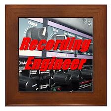 Recording Engineer Framed Tile