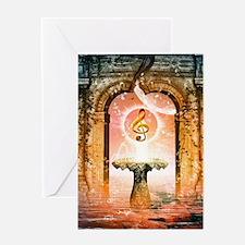 Wonderful decorative clef Greeting Cards