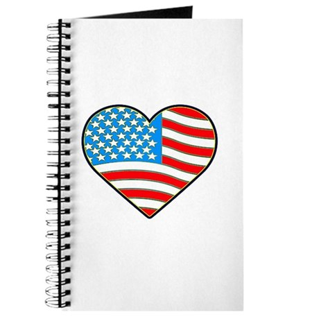 I Love America Flag Journal