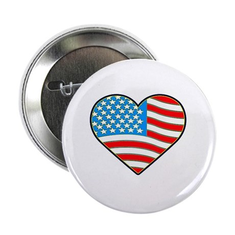 I Love America Flag Button