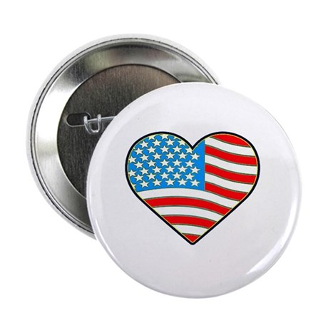 """I Love America Flag 2.25"""" Button (10 pack)"""