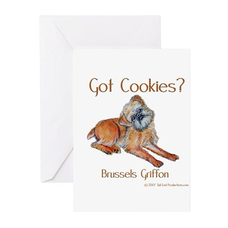 Brussels Griffon Cookies! Greeting Cards (Pk of 20