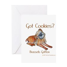 Brussels Griffon Cookies! Greeting Card