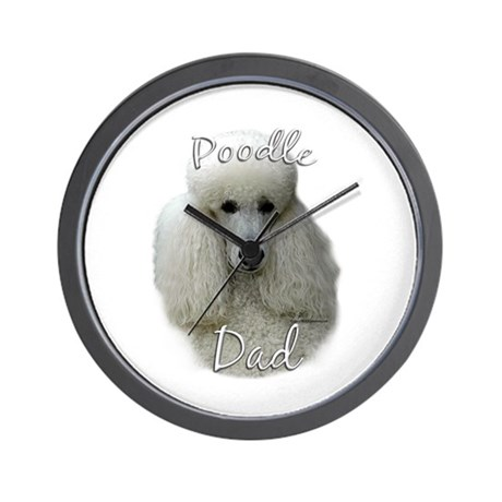 Poodle Dad2 Wall Clock