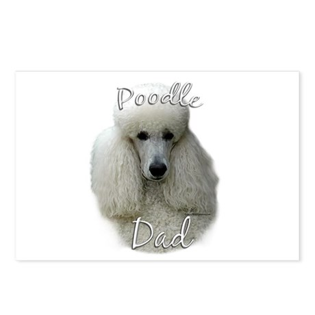 Poodle Dad2 Postcards (Package of 8)