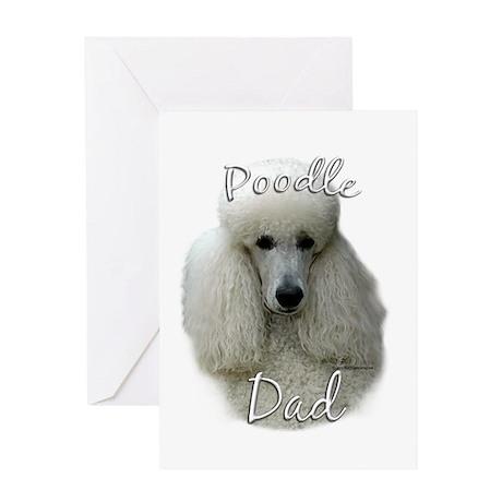 Poodle Dad2 Greeting Card
