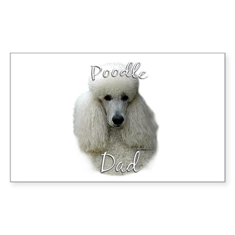Poodle Dad2 Rectangle Sticker