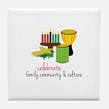 Celebrate Family Tile Coaster