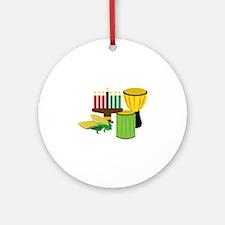 Kwanzaa Celebration Round Ornament