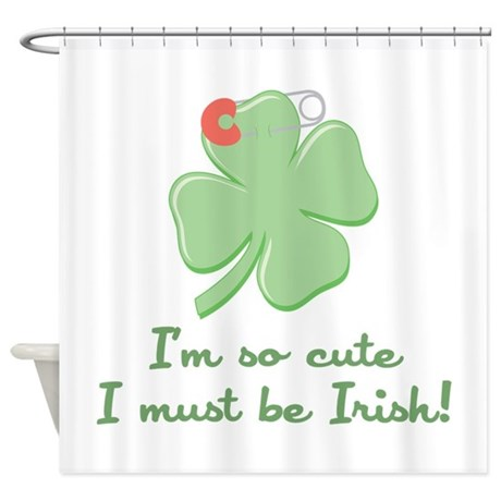 Cute Irish Shower Curtain By Concord32