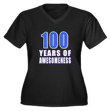 100 Years Of Women's Plus Size V-Neck Dark T-Shirt