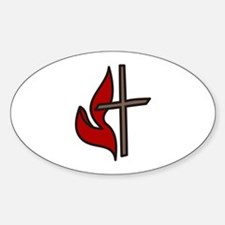 Cross And Flame Decal