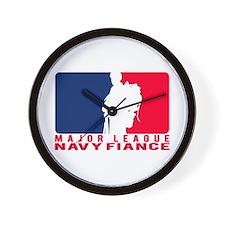Major League Fiance - NAVY Wall Clock