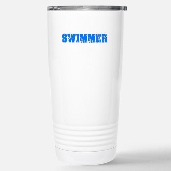 Swimmer Blue Bold Design Mugs