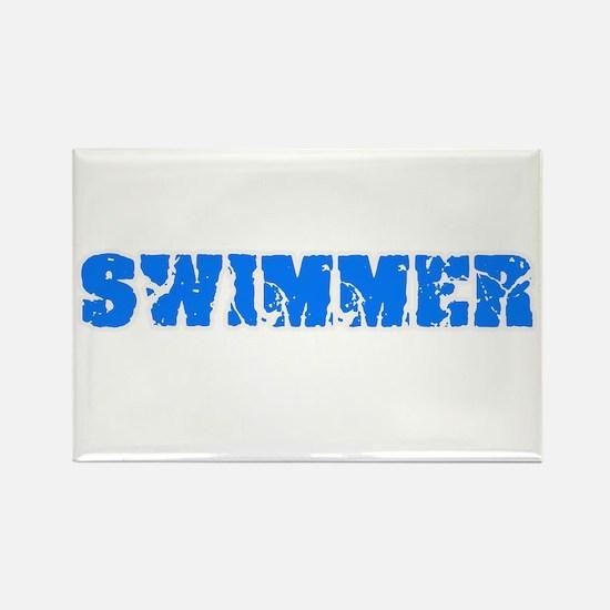Swimmer Blue Bold Design Magnets