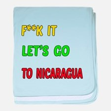 Let's go to Nicaragua baby blanket