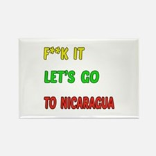 Let's go to Nicaragua Rectangle Magnet