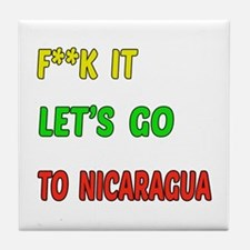 Let's go to Nicaragua Tile Coaster