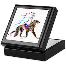 Saluki Black&Tan Carousel Keepsake Box