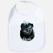 Pug Mom2 Bib