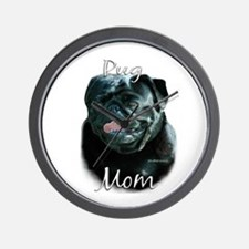 Pug Mom2 Wall Clock
