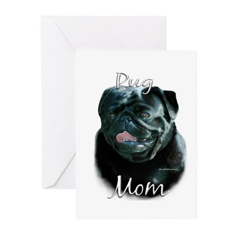 Pug Mom2 Greeting Cards (Pk of 10)