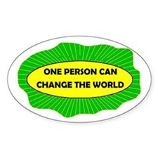 CHANGE THE WORLD Oval Decal